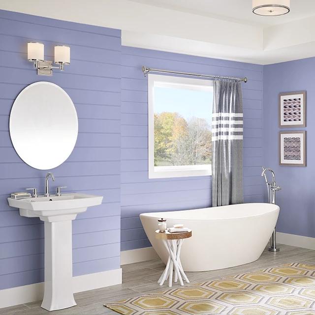 Bathroom painted in BEDTIME STORY