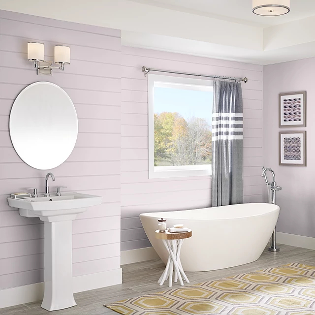 Bathroom painted in BRIDAL BLUSH