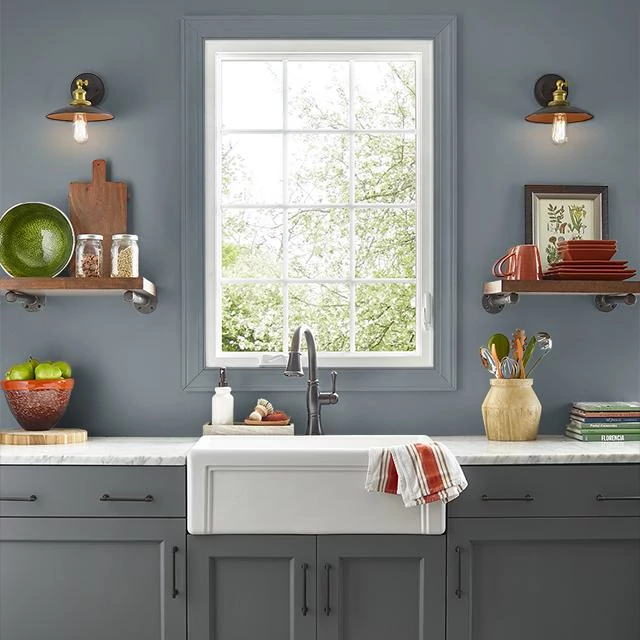 Kitchen painted in DEEP CHARCOAL