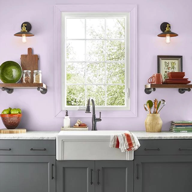 Kitchen painted in CLASSIC ROSE