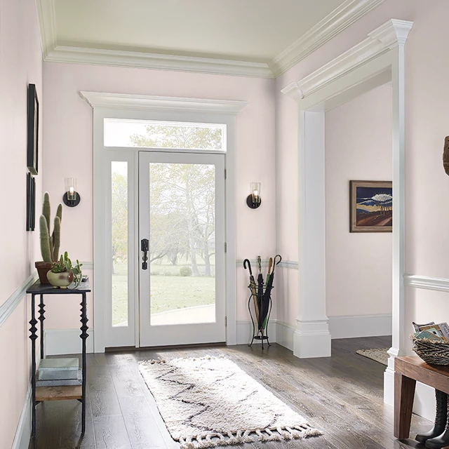 Foyer painted in PEACH GLAMOUR