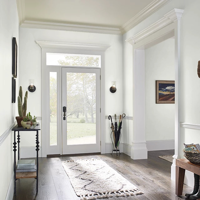 Foyer painted in WHITE WING