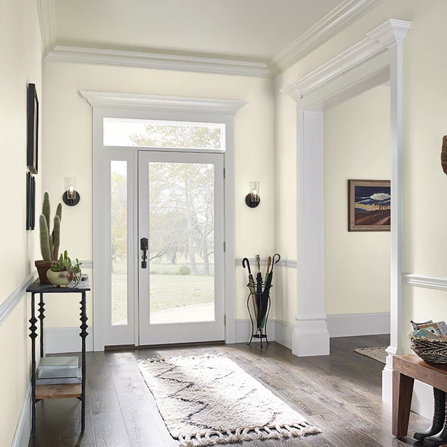 Foyer painted in MILK AND HONEY
