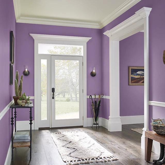 Foyer painted in POETS PURPLE