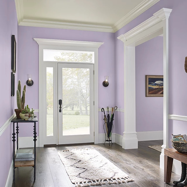 Foyer painted in SILK SCARF