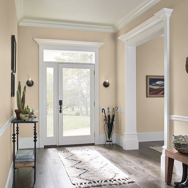 Foyer painted in TEA WITH CREAM