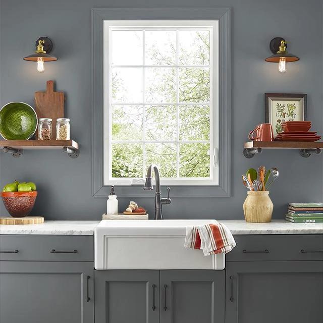 Kitchen painted in MURKY DEPTHS