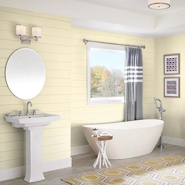 Bathroom painted in MOONBEAM