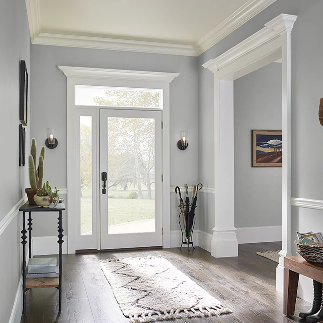 Foyer painted in SOFT STEEL