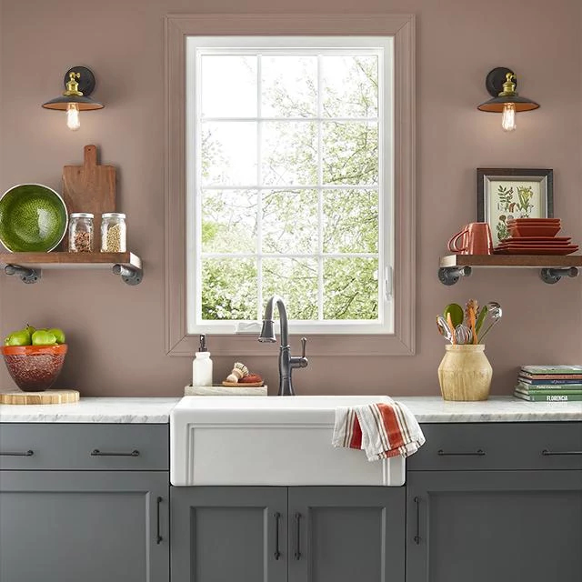Kitchen painted in FINE LEATHER