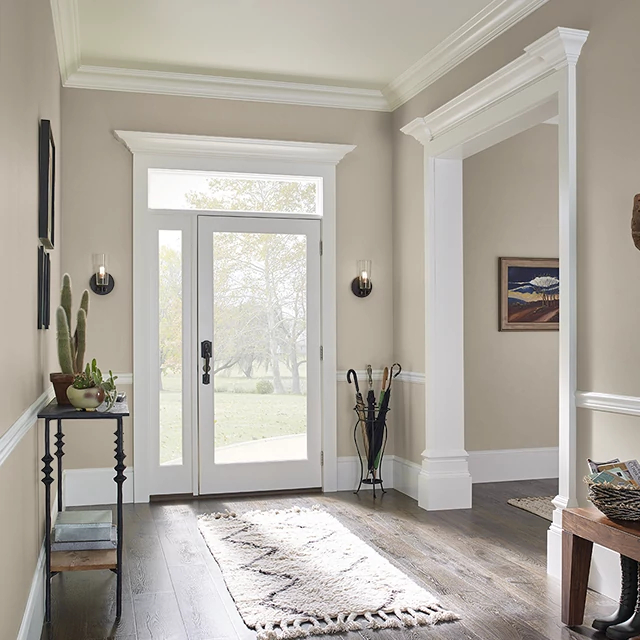 Foyer painted in COTTAGE STONE
