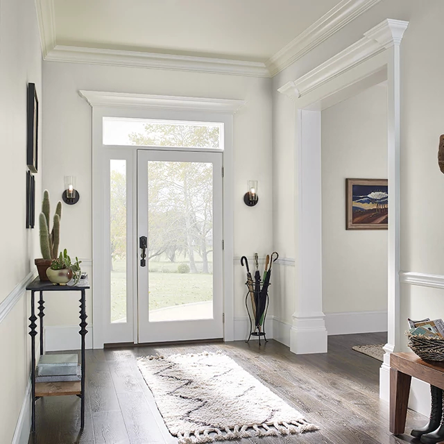 Foyer painted in FOGGY SKIES