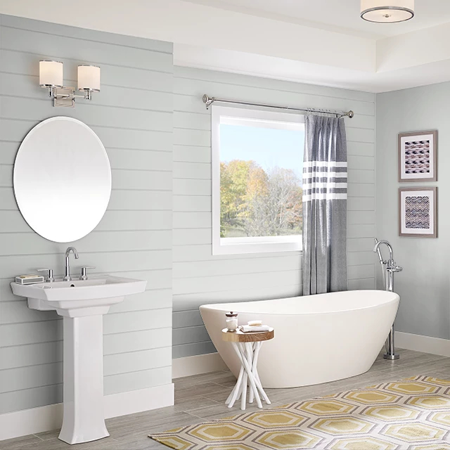Bathroom painted in CHALK GRAY