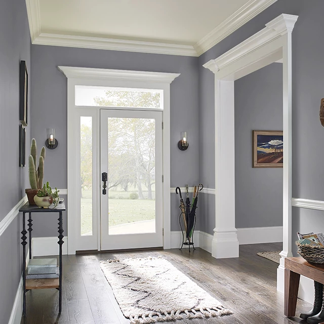 Foyer painted in WHALE TAIL