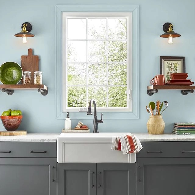 Kitchen painted in CHILLY MORNING