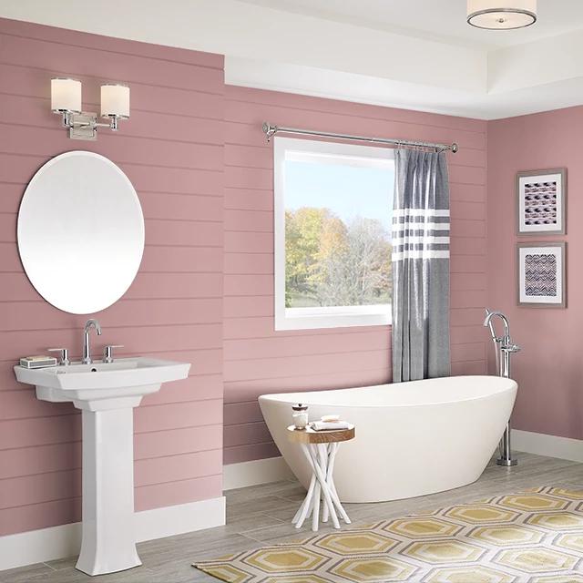 Bathroom painted in PAPER DOLLS