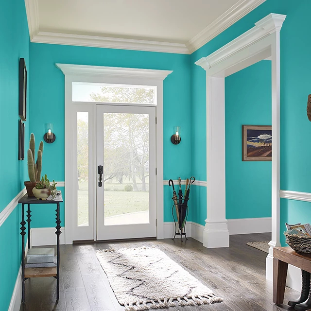 Foyer painted in SEAWALL