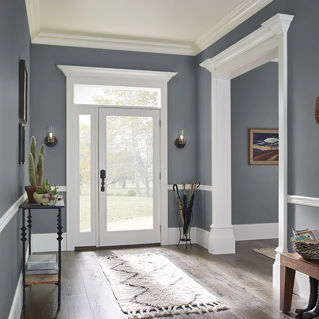 Foyer painted in MURKY DEPTHS