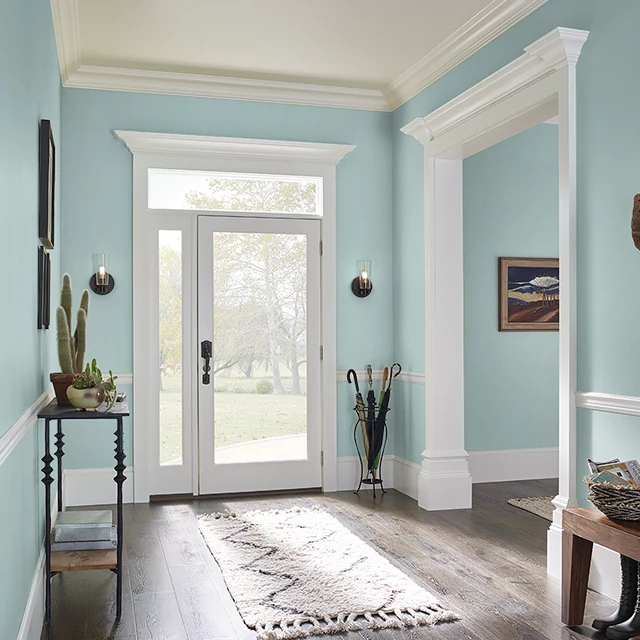 Foyer painted in BELL BOTTOMS