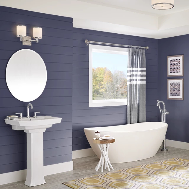 Bathroom painted in BLUE GALAXY