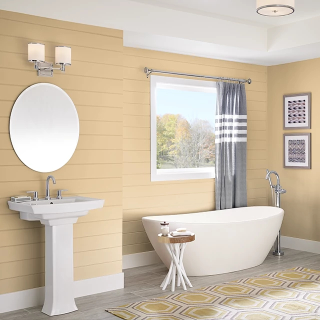 Bathroom painted in AUTUMN EQUINOX