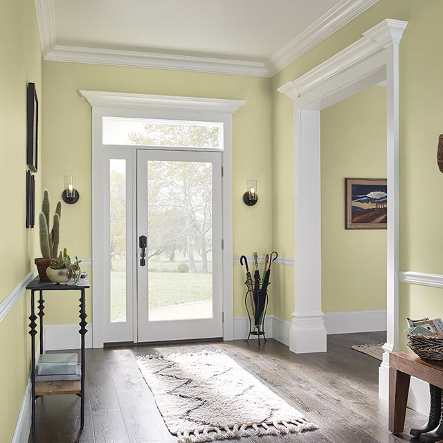 Foyer painted in CUCUMBER