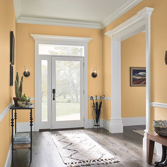 Foyer painted in POMMERY MUSTARD