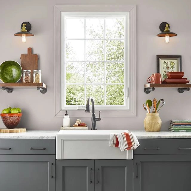 Kitchen painted in ALWAYS TAUPE