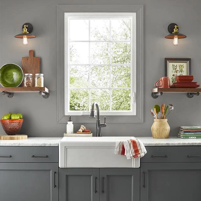 Kitchen painted in SMOKEY EYES
