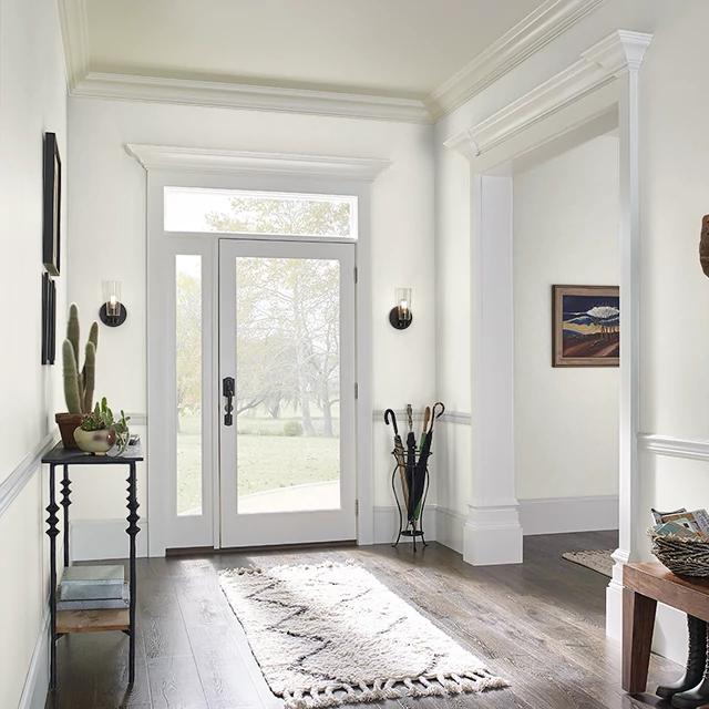 Foyer painted in SHAVED COCONUT