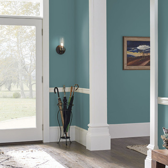 Foyer painted in PALE EMERALD