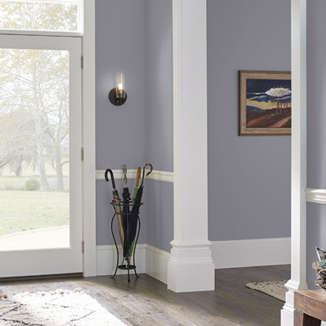 Foyer painted in AVIATOR SILVER