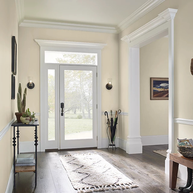 Foyer painted in PALE GOLD
