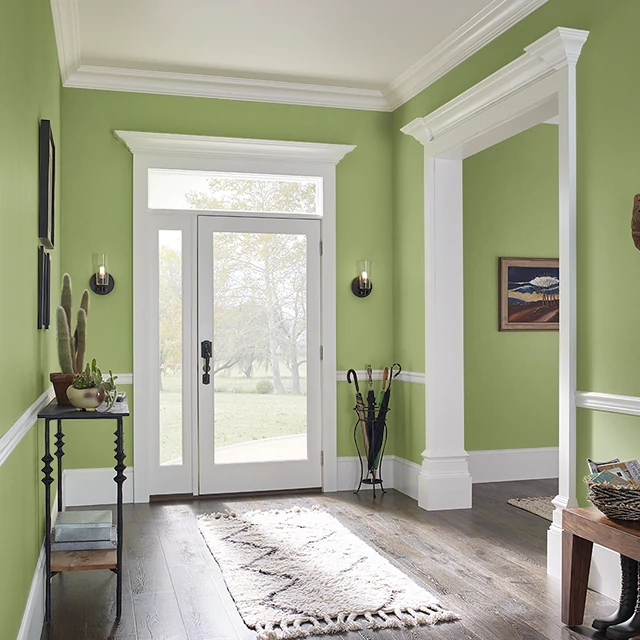 Foyer painted in VITALITY