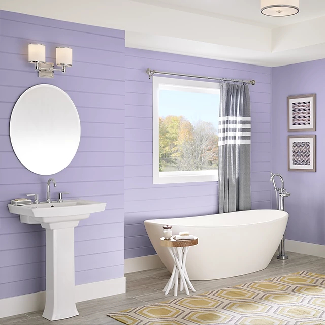 Bathroom painted in GINGER LILY