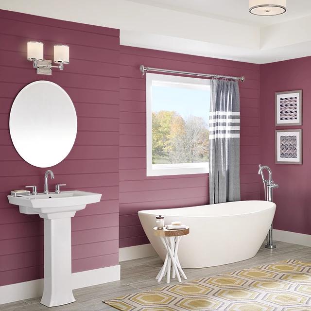 Bathroom painted in SATIN FLOWER