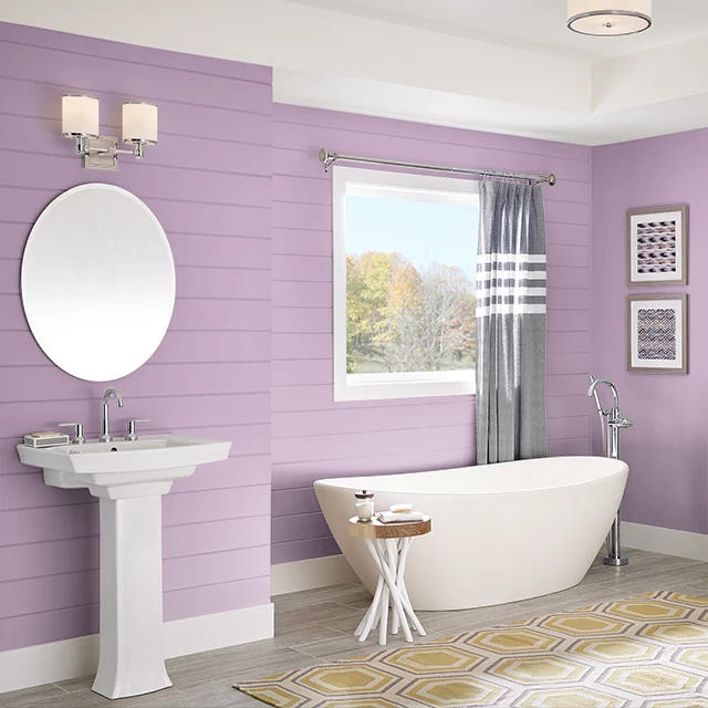 Bathroom painted in STRAWBERRY LASSI