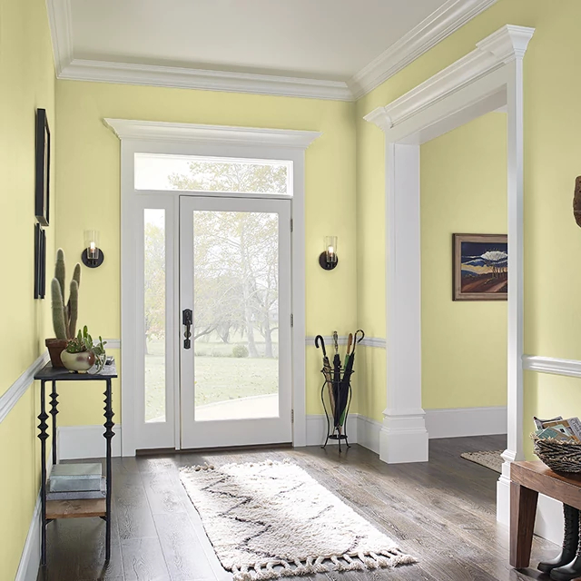 Foyer painted in AUTUMN FERN