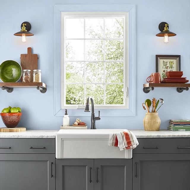 Kitchen painted in SOOTHING MELODY