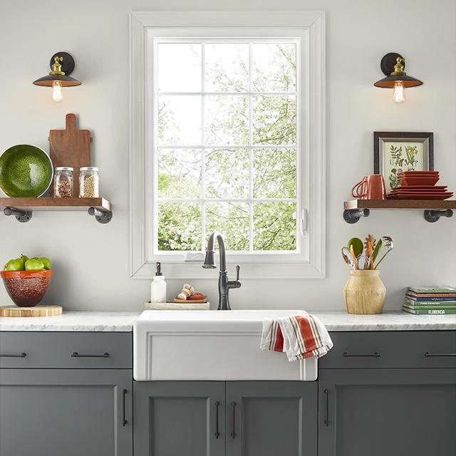 Kitchen painted in LANOLIN