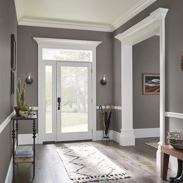 Foyer painted in MUDDY PAWS