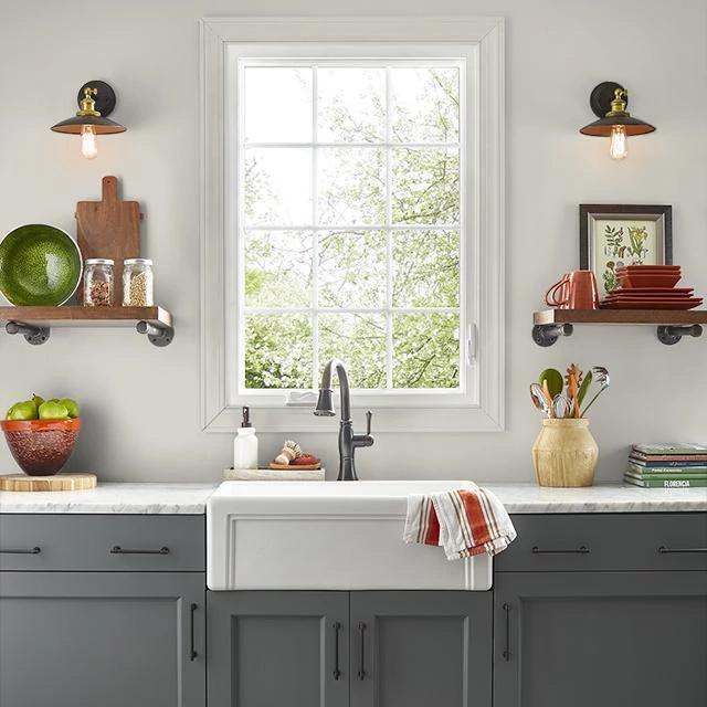 Kitchen painted in SMOKE RING
