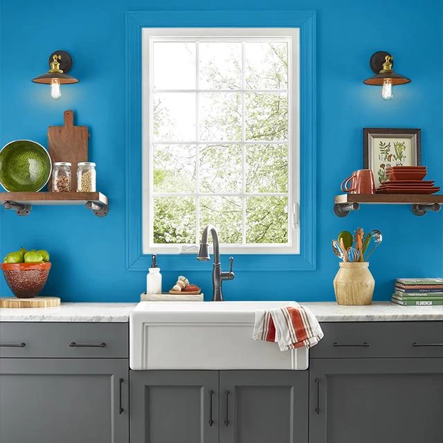 Kitchen painted in ASPIRATION