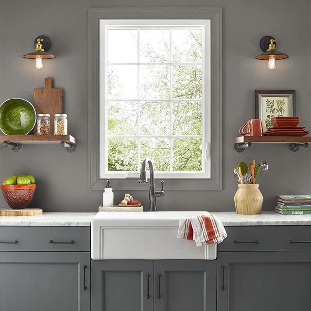 Kitchen painted in UNDERGROUND