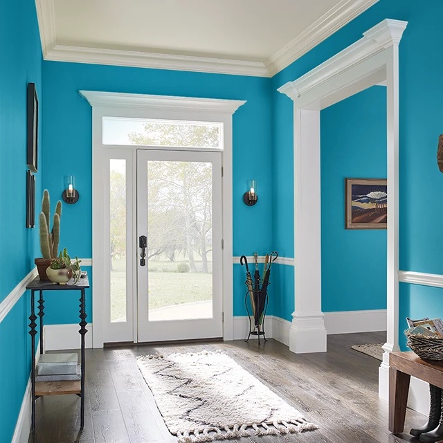 Foyer painted in CENTURIAN BLUE