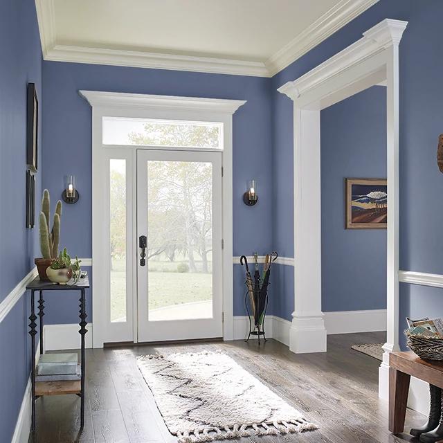 Foyer painted in PURPLING