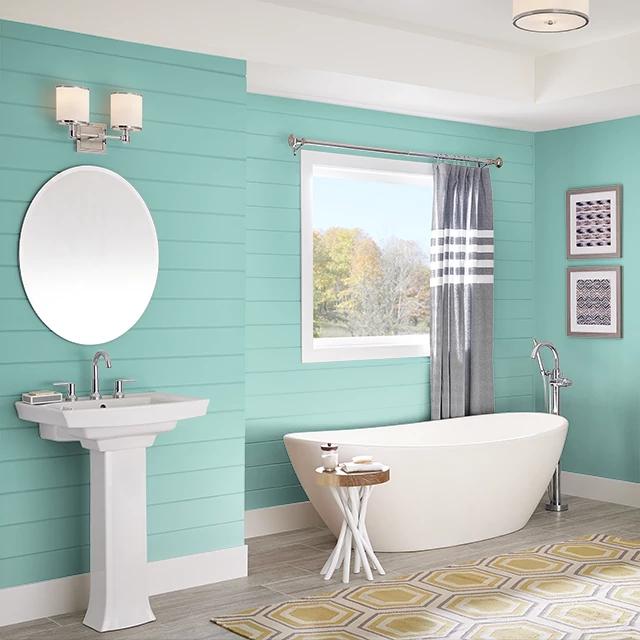 Bathroom painted in CELADON PLATE