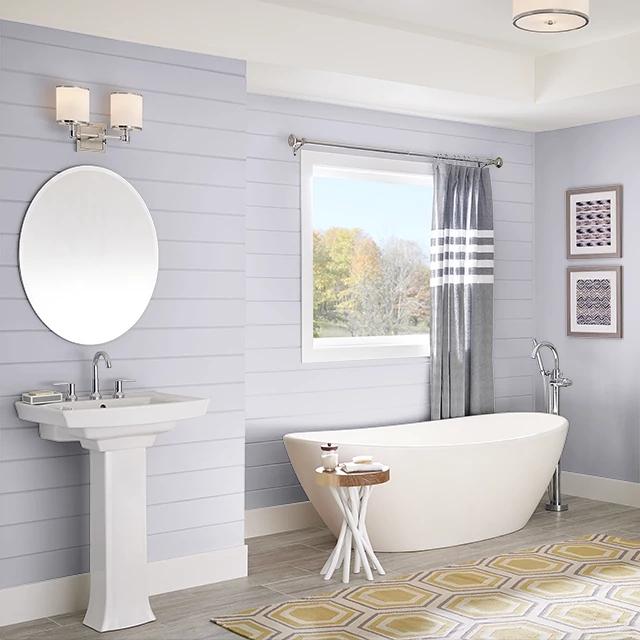 Bathroom painted in LIGHT SHADOW