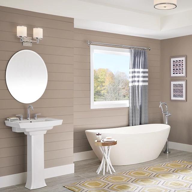 Bathroom painted in CLOVE