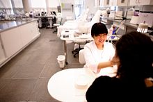 international student in an esthetician program